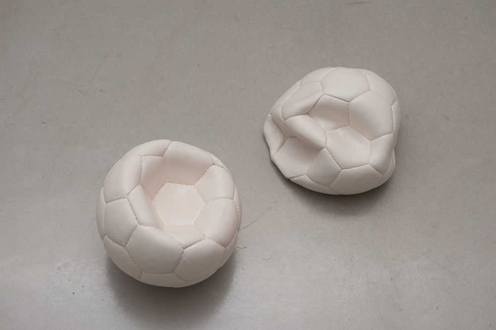 5 - Nothing (untitled) - 2015; dimensions variable (approx. 22 x 22 cm each); clay