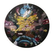 Nothing (untitled) - 2019, O cm 130, oli, acrylic, oil crayons, collage on canvas